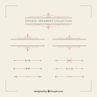 Collection d'ornements dans le style vintage