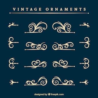 Collection d'ornements vintage