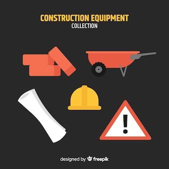 Collection d'outils de construction plate