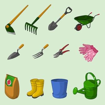 Collection d'outils de jardinage