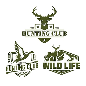 Collection de pack logo de chasse