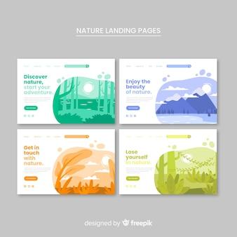 Collection de pages d'atterrissage nature