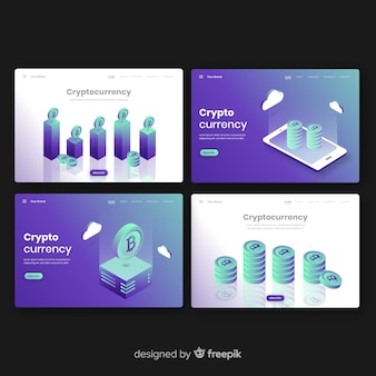 Collection de pages de destination crypto-monnaie