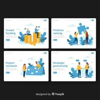 Collection de pages de destination pour les entreprises