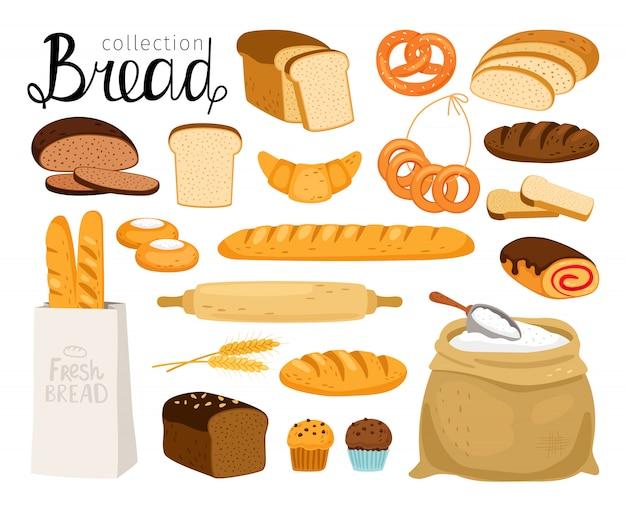 Collection de pain de dessin animé