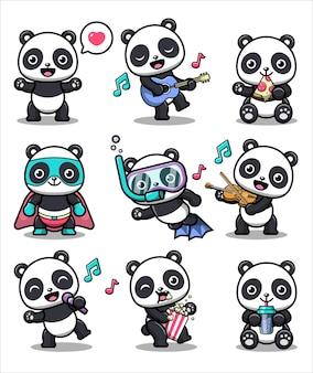Collection de panda mignon