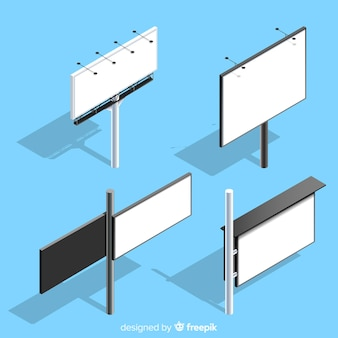 Collection de panneaux isométriques