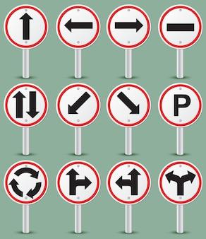 Collection de panneaux de signalisation routière