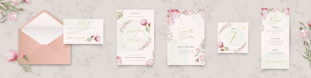Collection de papeterie de mariage floral