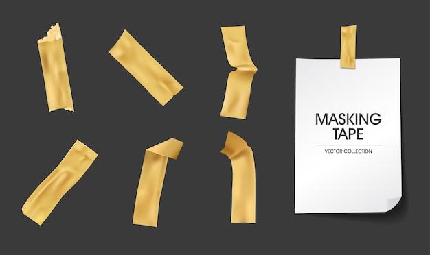 Collection de papier collant de masking tape