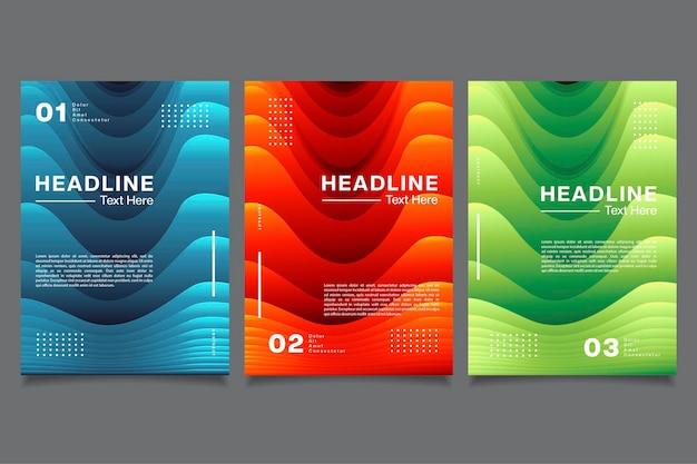 Collection de papier découpé coloré de vecteur