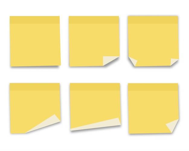 Collection de papier à notes. illustration vectorielle.