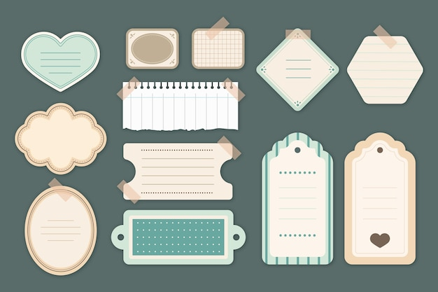 Collection de papier scrapbook vintage