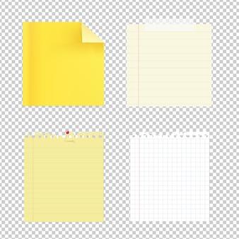 Collection de papiers de note