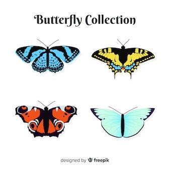 Collection de papillons réalistes