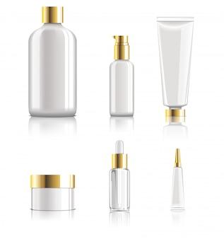 Collection de paquets de soins de la peau réalistes et brillants