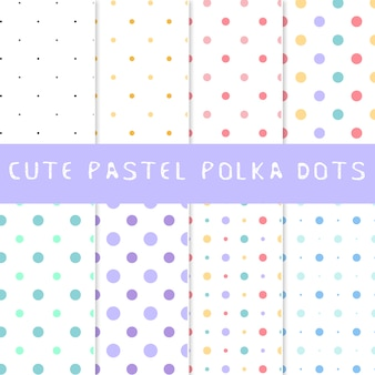 Collection pastel polka dots
