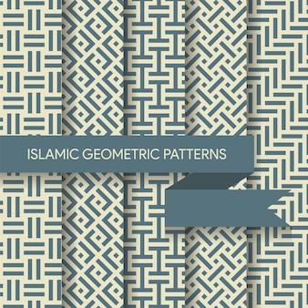 Collection de patrons d'arrière-plans géométriques sans soudure