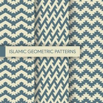 Collection de patrons d'arrière-plans géométriques textiles sans soudure