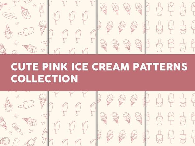 Collection de patrons de glace rose mignonne