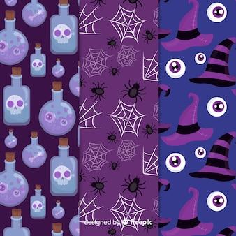 Collection de patrons pour une nuit d'halloween effrayante