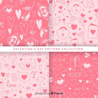 Collection de patrons de la saint valentin