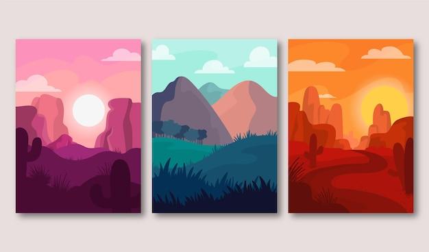 Collection de paysages différents