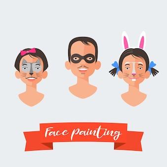 Collection de peinture de visage pour enfants