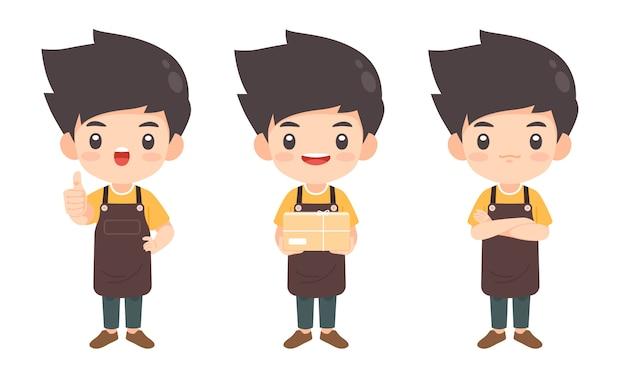 Collection de personnage de l'homme dans plusieurs pose