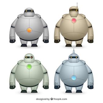Collection de personnage robot réaliste