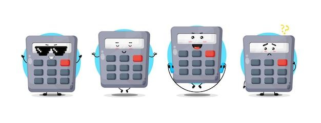 Collection de personnages de calculatrice mignonne