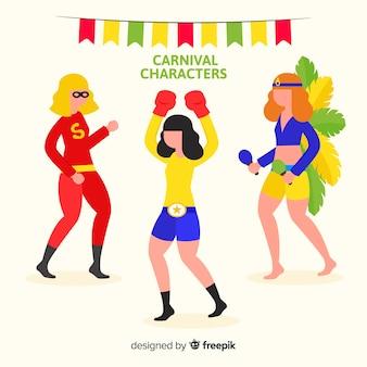 Collection de personnages de carnaval