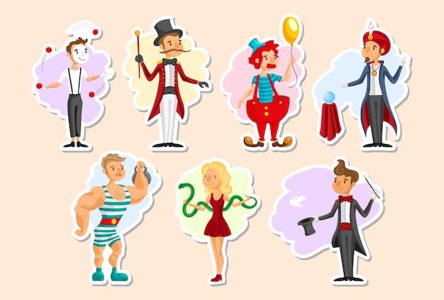 Collection de personnages de cirque