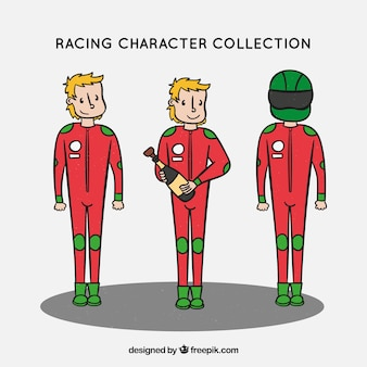 Collection de personnages de course f1