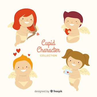 Collection de personnages de cupidon
