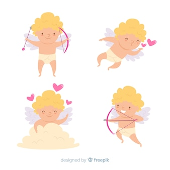 Collection de personnages de cupidon