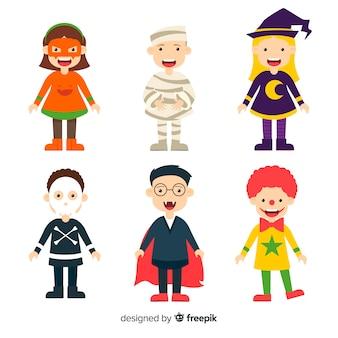Collection de personnages d'enfants d'halloween