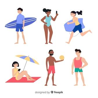 Collection de personnages d'été