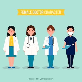 Collection de personnages féminins sérieux