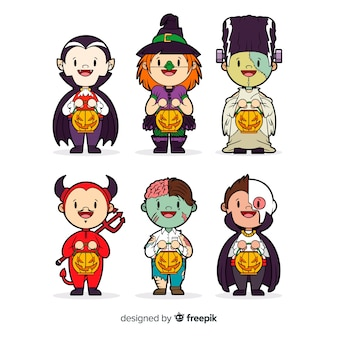 Collection de personnages halloween mignons