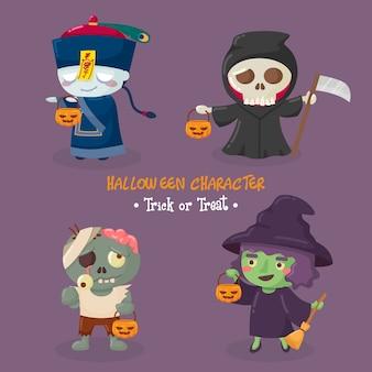 Collection de personnages halloween mignons