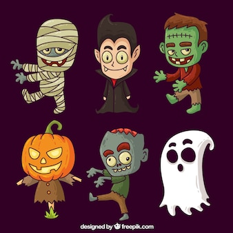 Collection de personnages d'halloween