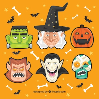 Collection de personnages de halloween