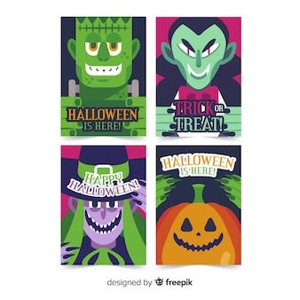 Collection avec des personnages d'halloween