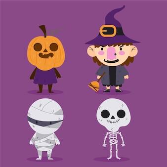 Collection de personnages d'halloween