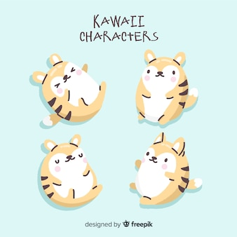 Collection de personnages kawaii