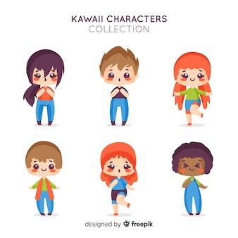 Collection de personnages kawaii
