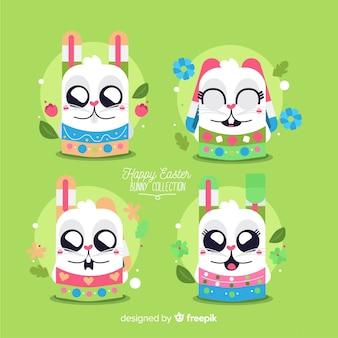 Collection de personnages de lapin de pâques