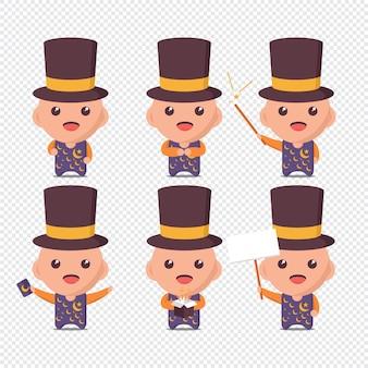 Collection de personnages magiques pour bébé mignon