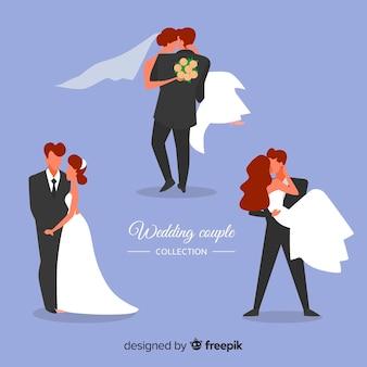 Collection de personnages de mariage